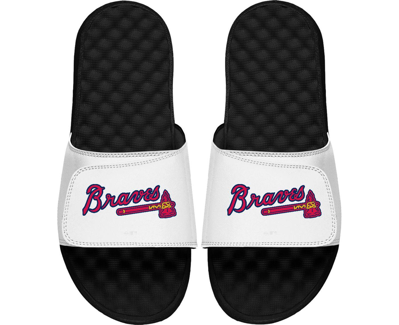 ISlide Atlanta Braves Logo Youth Sandals