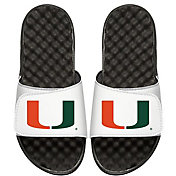 ISlide Miami Hurricanes Youth Sandals