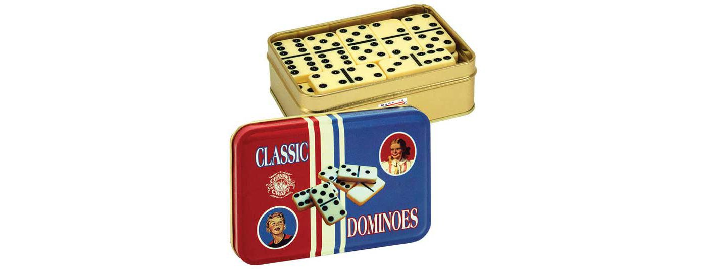 Channel Craft Dominoes Classic Toy Tin