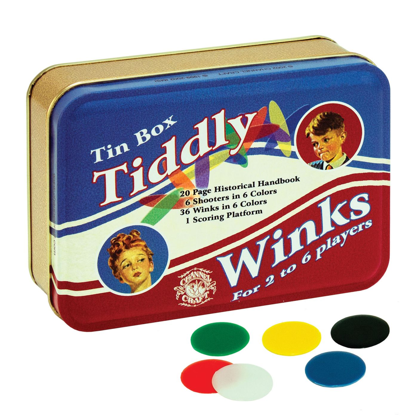 Channel Craft Toy Tin Tiddly Winks