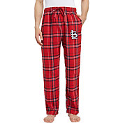 Concepts Sport Men's St. Louis Cardinals Plaid Flannel Pajama Pants