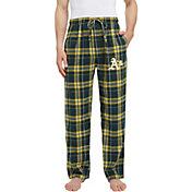 Concepts Sport Men's Oakland Athletics Plaid Flannel Pajama Pants