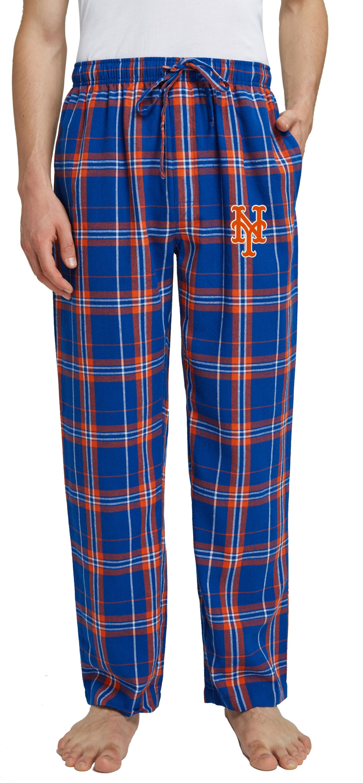 Concepts Sport Men's New York Mets Plaid Flannel Pajama Pants
