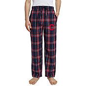 Concepts Sport Men's Cleveland Indians Plaid Flannel Pajama Pants
