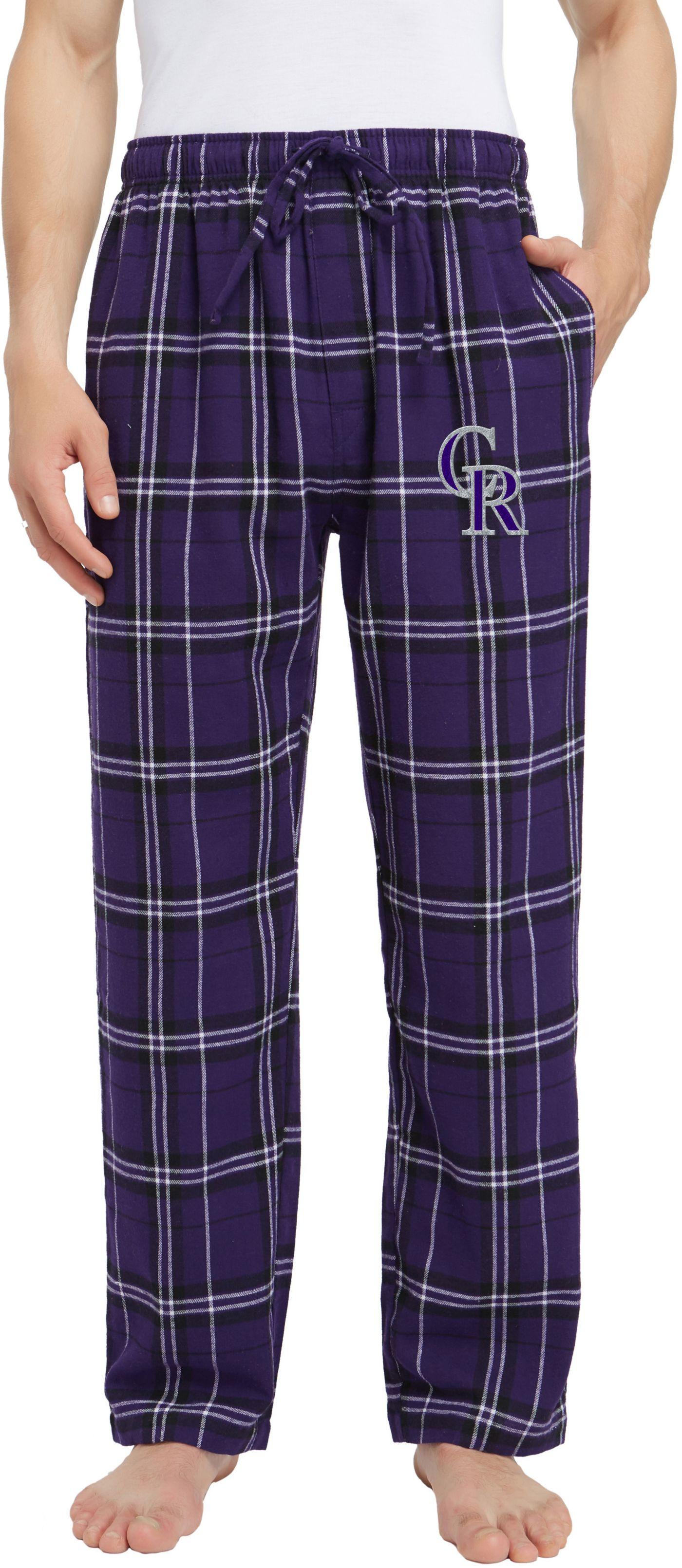 Concepts Sport Men's Colorado Rockies Plaid Flannel Pajama Pants