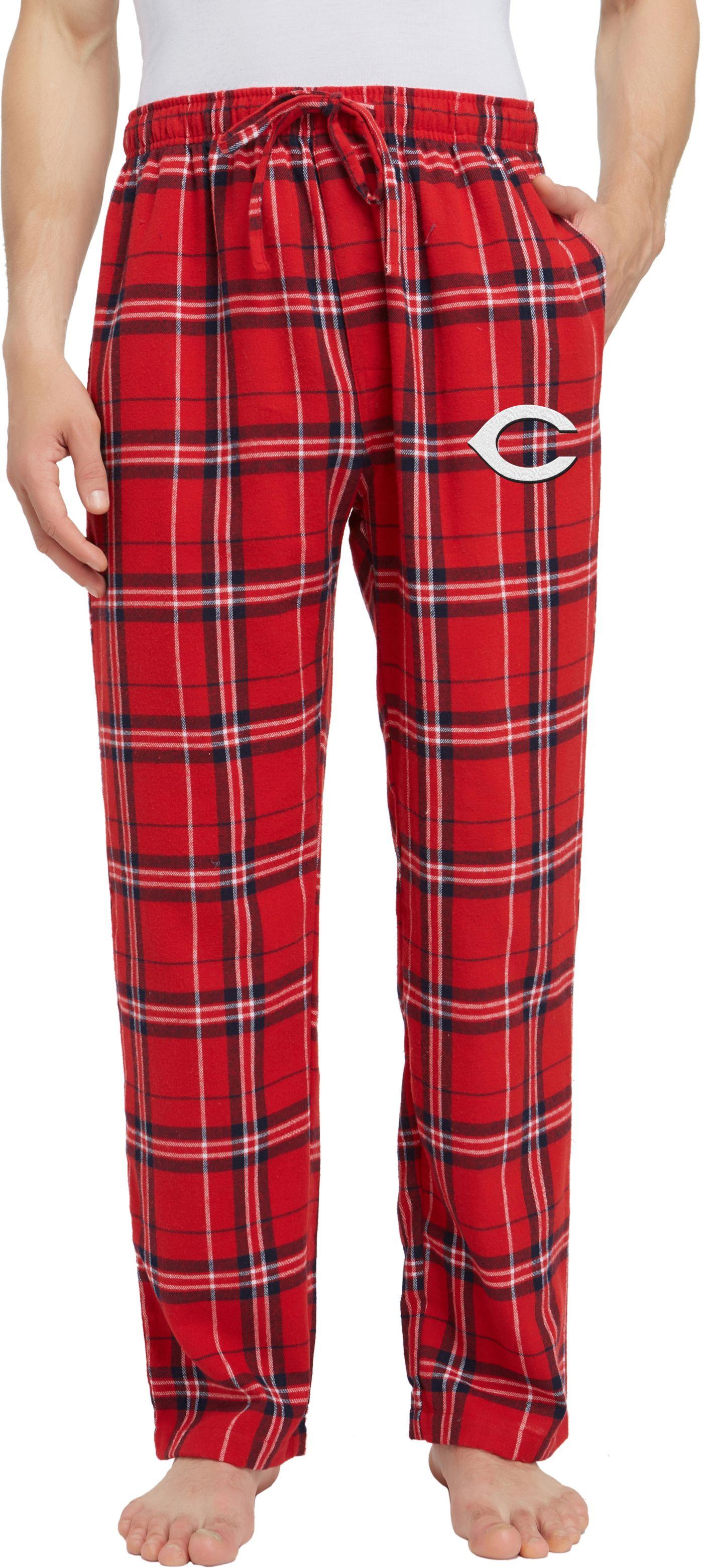 Concepts Sport Men's Cincinnati Reds Plaid Flannel Pajama Pants