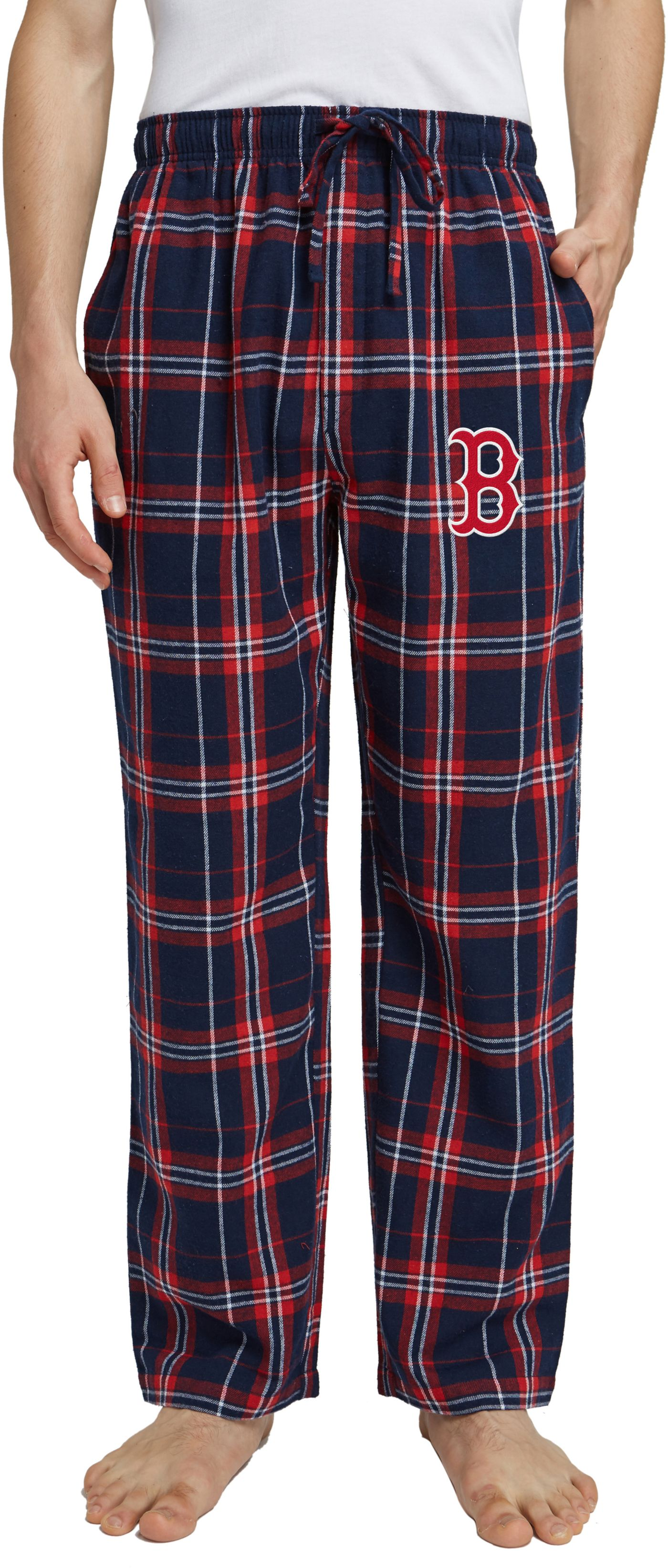 Concepts Sport Men's Boston Red Sox Plaid Flannel Pajama Pants