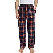 Concepts Sport Men's Houston Astros Plaid Hilston Flannel Pajama Pants