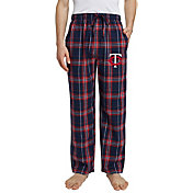 Concepts Sport Men's Minnesota Twins Plaid Flannel Pajama Pants