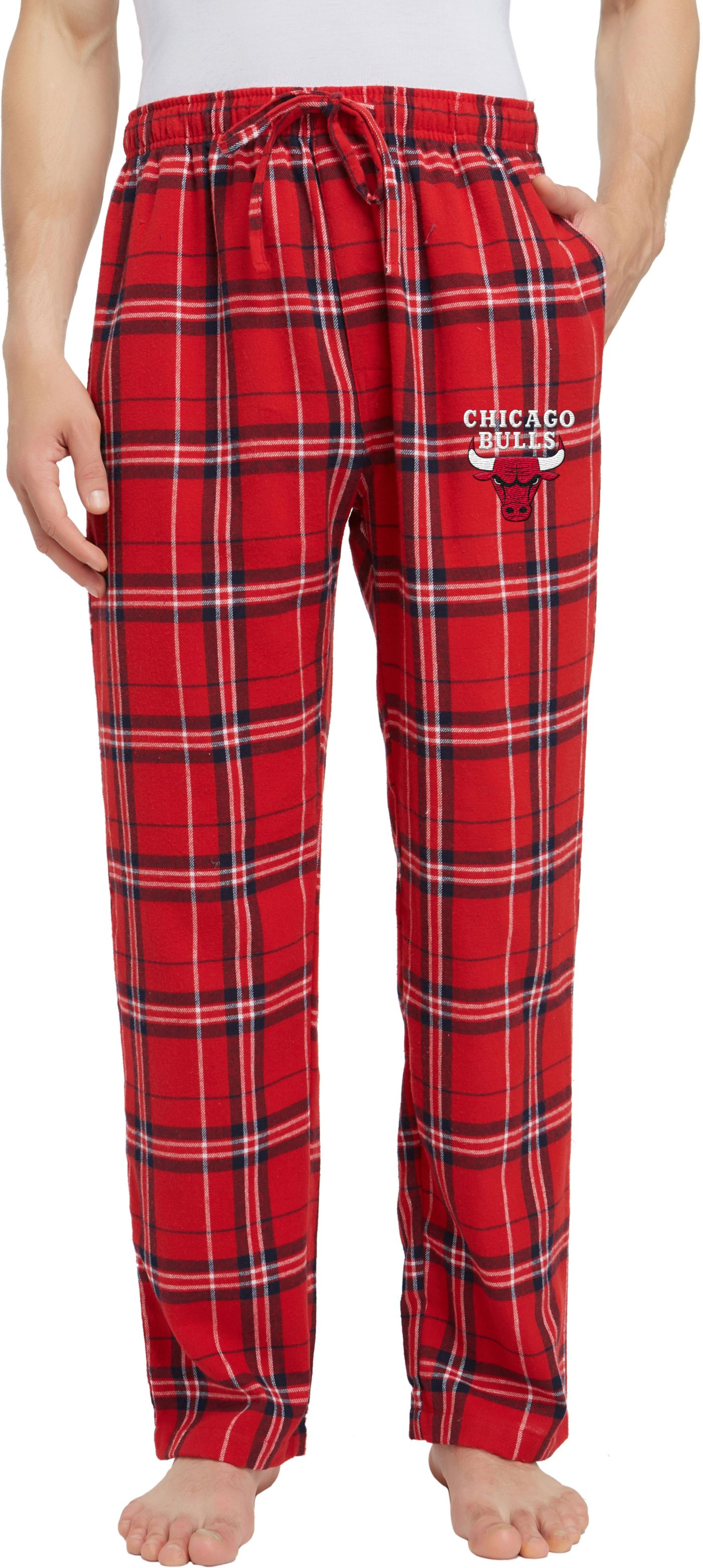 Concepts Sport Men's Chicago Bulls Plaid Flannel Pajama Pants