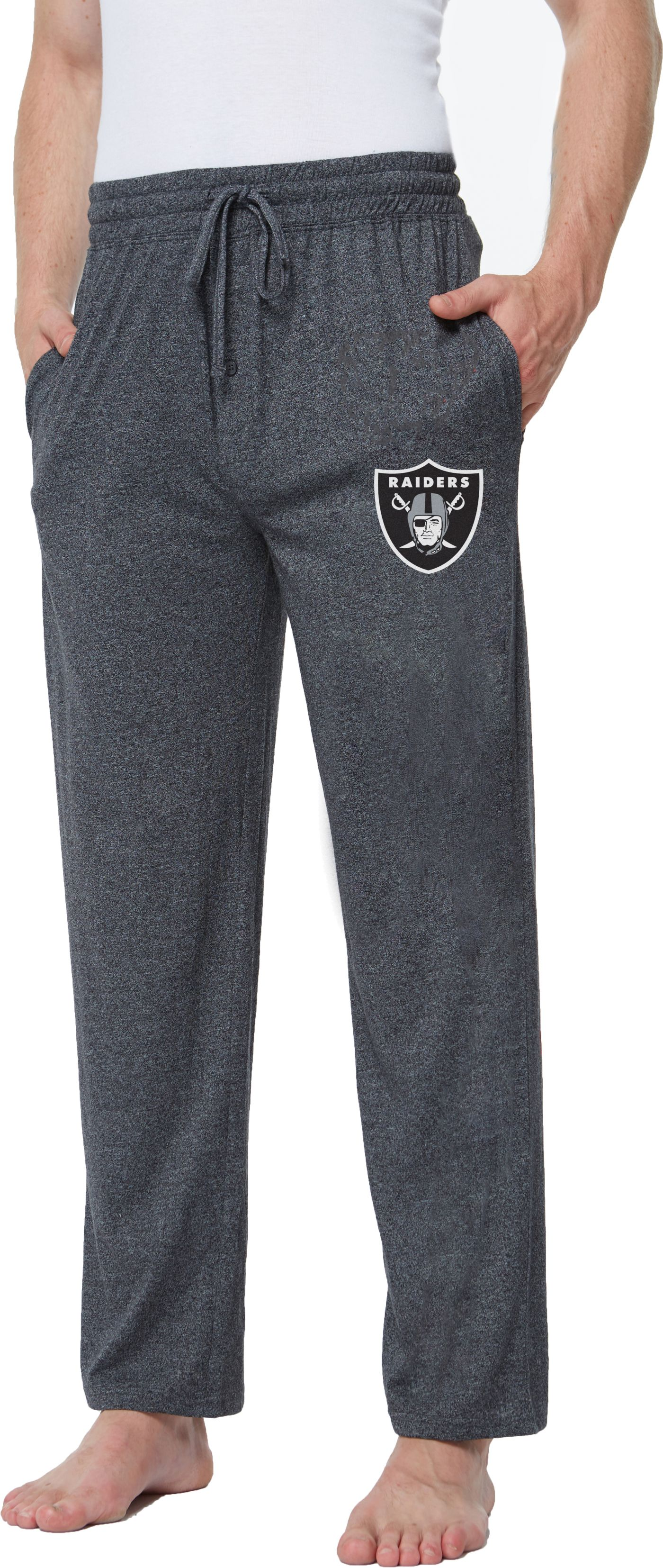 Concepts Sport Men's Oakland Raiders Quest Charcoal Jersey Pants