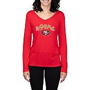 Concepts Sport Women's San Francisco 49ers Marathon Red Long Sleeve Shirt