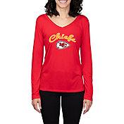 Concepts Sport Women's Kansas City Chiefs Marathon Red Long Sleeve Shirt