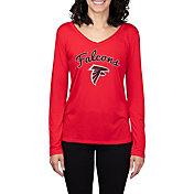 Concepts Sport Women's Atlanta Falcons Marathon Red Long Sleeve Shirt
