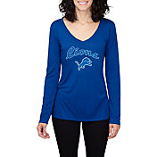 Concepts Sport Women's Detroit Lions Marathon Royal Long Sleeve Shirt