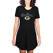 Concepts Sport Women's Green Bay Packers Black Nightshirt