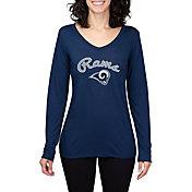 Concepts Sport Women's Los Angeles Rams Marathon Navy Long Sleeve Shirt