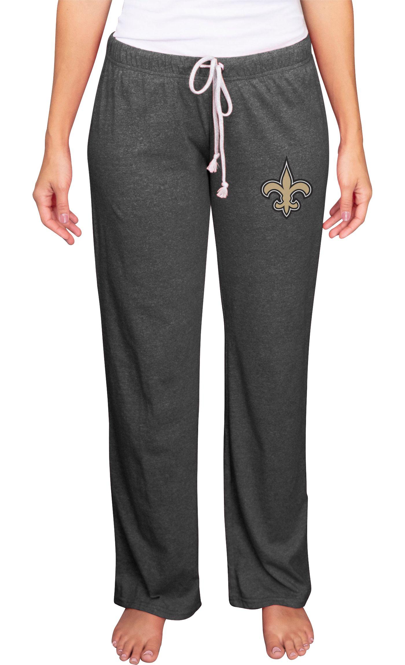 Concepts Sport Women's New Orleans Saints Quest Grey Pants