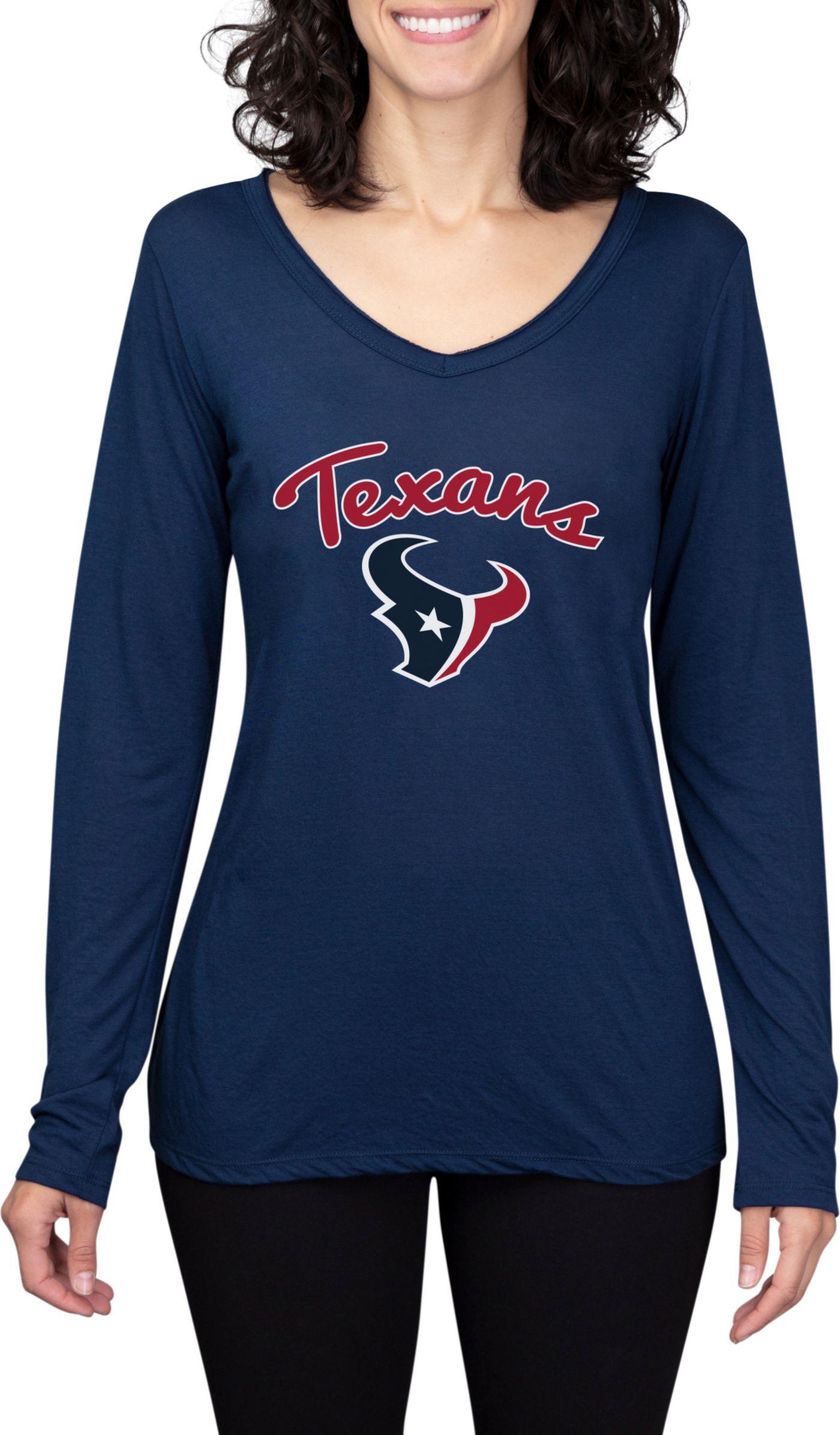 Concepts Sport Women's Houston Texans Marathon Navy Long Sleeve Shirt