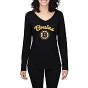 Concepts Sport Women's Boston Bruins Marathon  Knit Long Sleeve Shirt