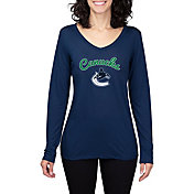 Concepts Sport Women's Vancouver Cancucks Marathon  Knit Long Sleeve Shirt