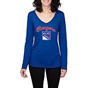 Concepts Sport Women's New York Rangers Marathon  Knit Long Sleeve Shirt
