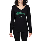 Concepts Sport Women's Dallas Stars Marathon  Knit Long Sleeve Shirt