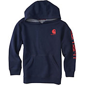 Carhartt Boys' Logo Fleece Zip Up Hoodie