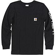 Carhartt Boys' Long Sleeve Pocket Logo T-Shirt