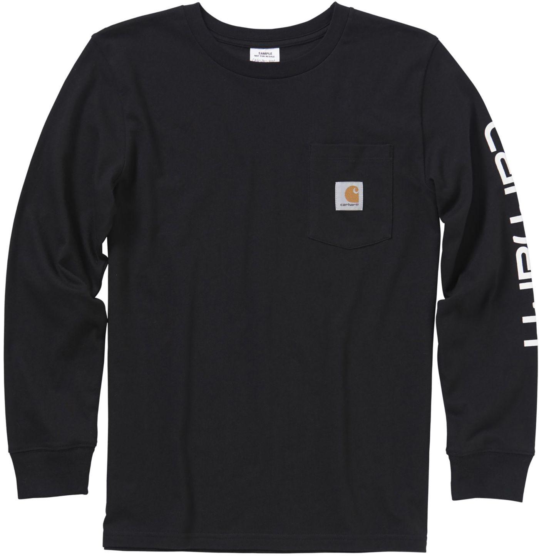 Carhartt Boys' Long Sleeve Pocket Logo T-Shirt