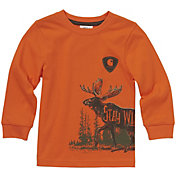 Carhartt Little Boys' Long Sleeve Stay Wild T-Shirt