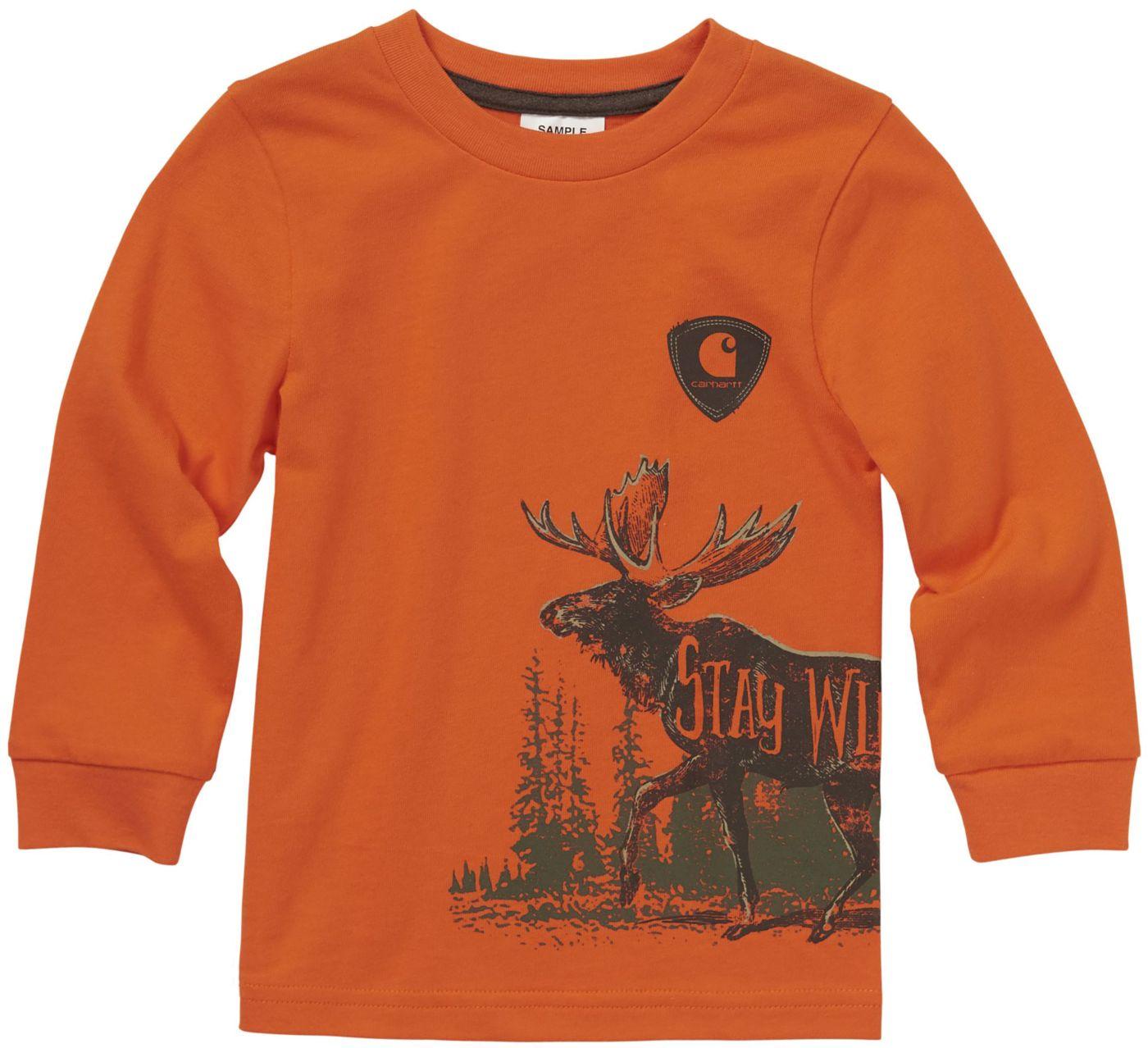 Carhartt Little Boys' Long Sleeve Stay Wild T-Shirt