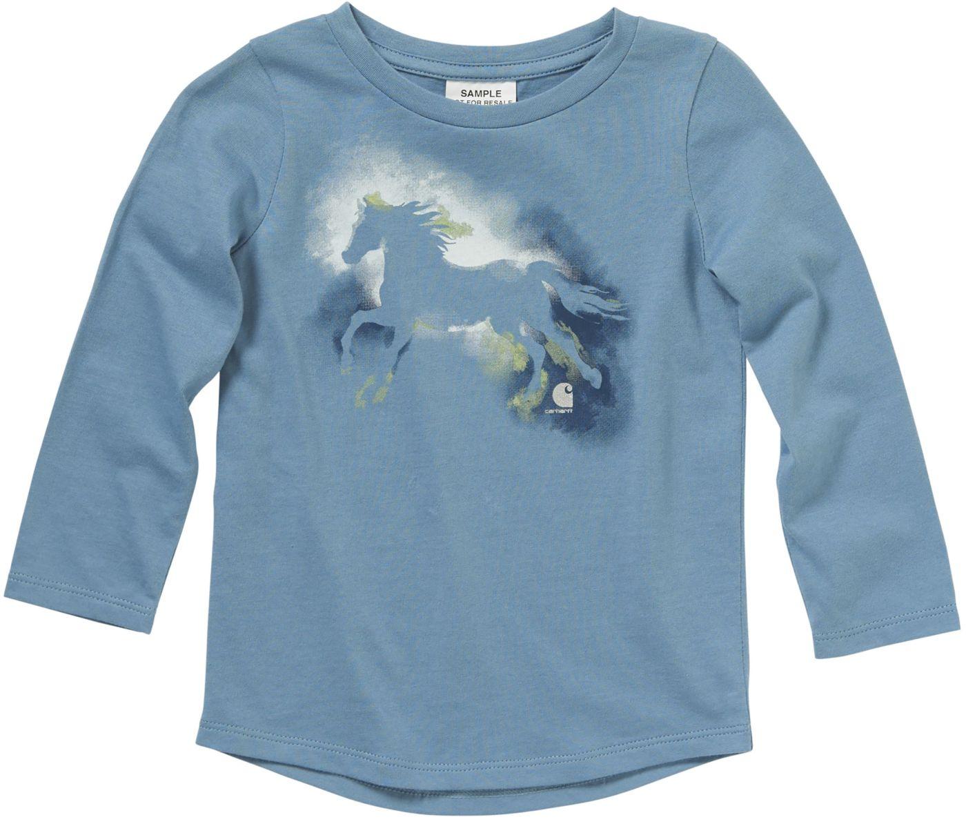 Carhartt Toddler Girls' Long Sleeve Watercolor Horse T-Shirt