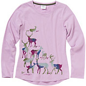 Carhartt Little Girls' Long Sleeve Water-Color Deer T-Shirt