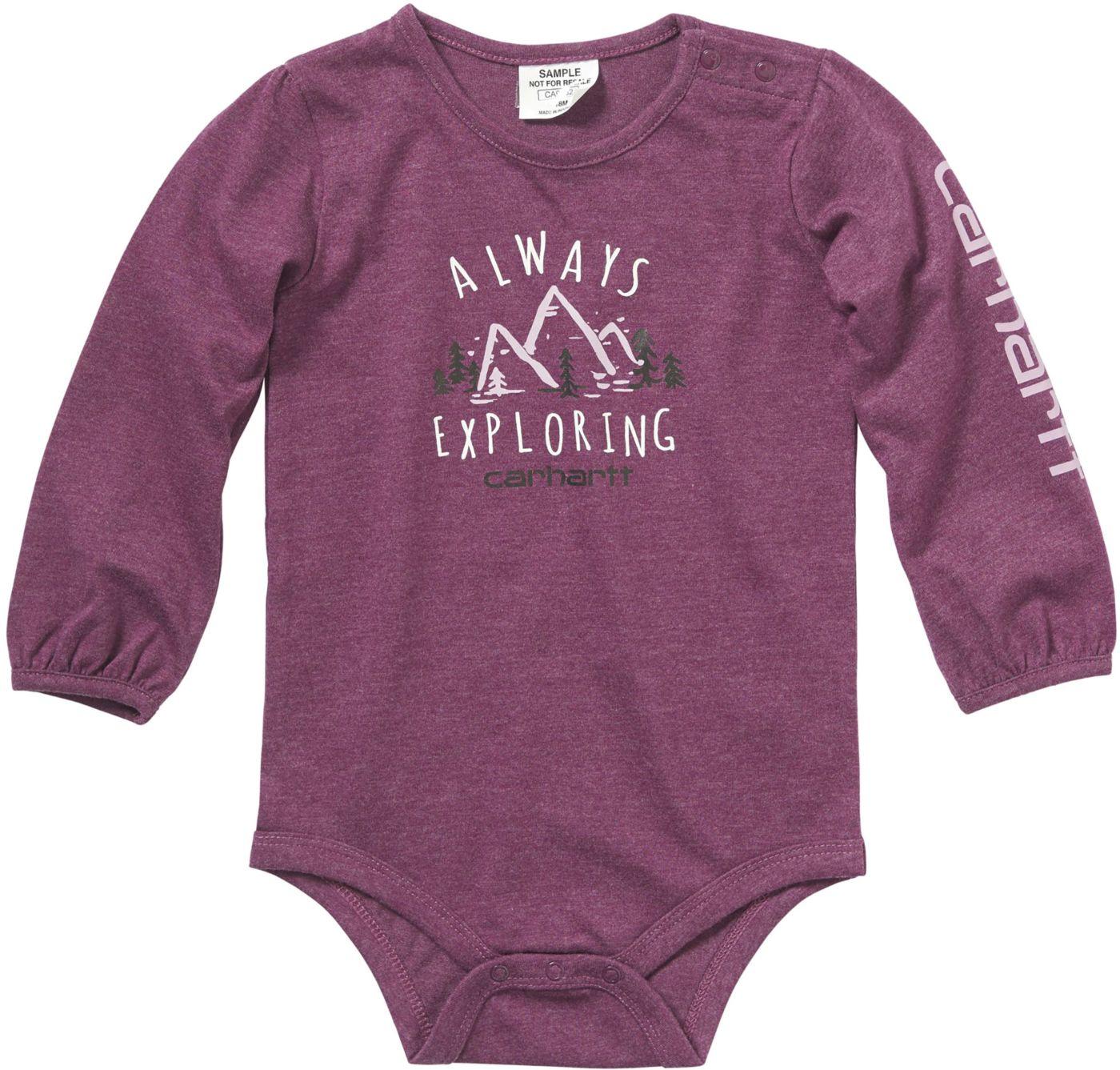 Carhartt Infant Girls' Long Sleeve Always Exploring Bodyshirt