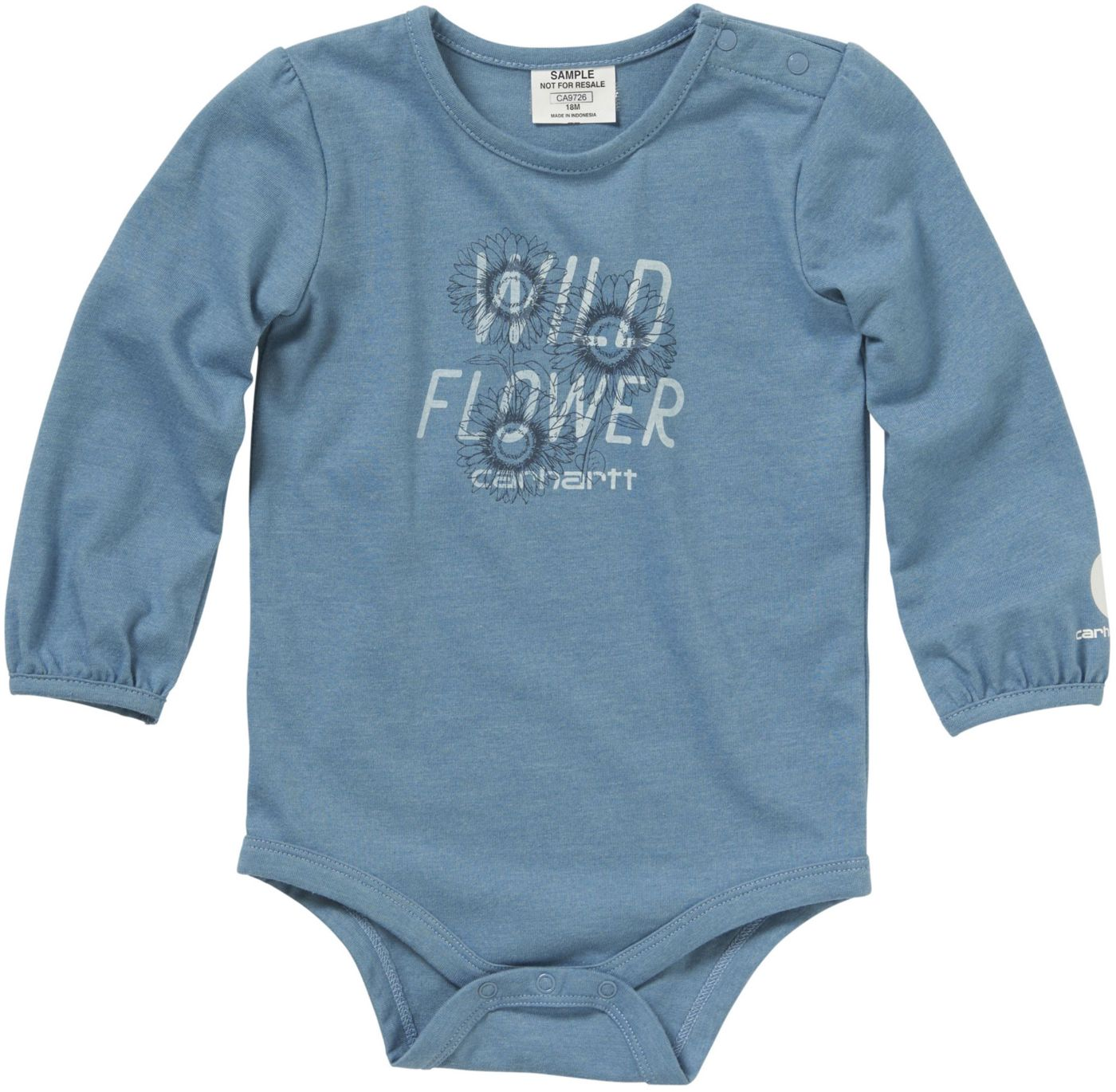 Carhartt Infant Girls' Long Sleeve Wild Flower Bodyshirt