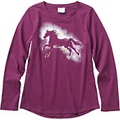 Carhartt Little Girls' Long Sleeve Water-Color Horse T-Shirt