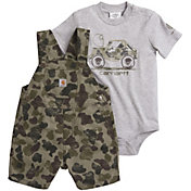 Carhartt Infant Boys' 2-Piece Onesie and Camo Shortall Set