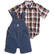 Carhartt Infant Boys' 2-Piece Onesie and Denim Shortall Set