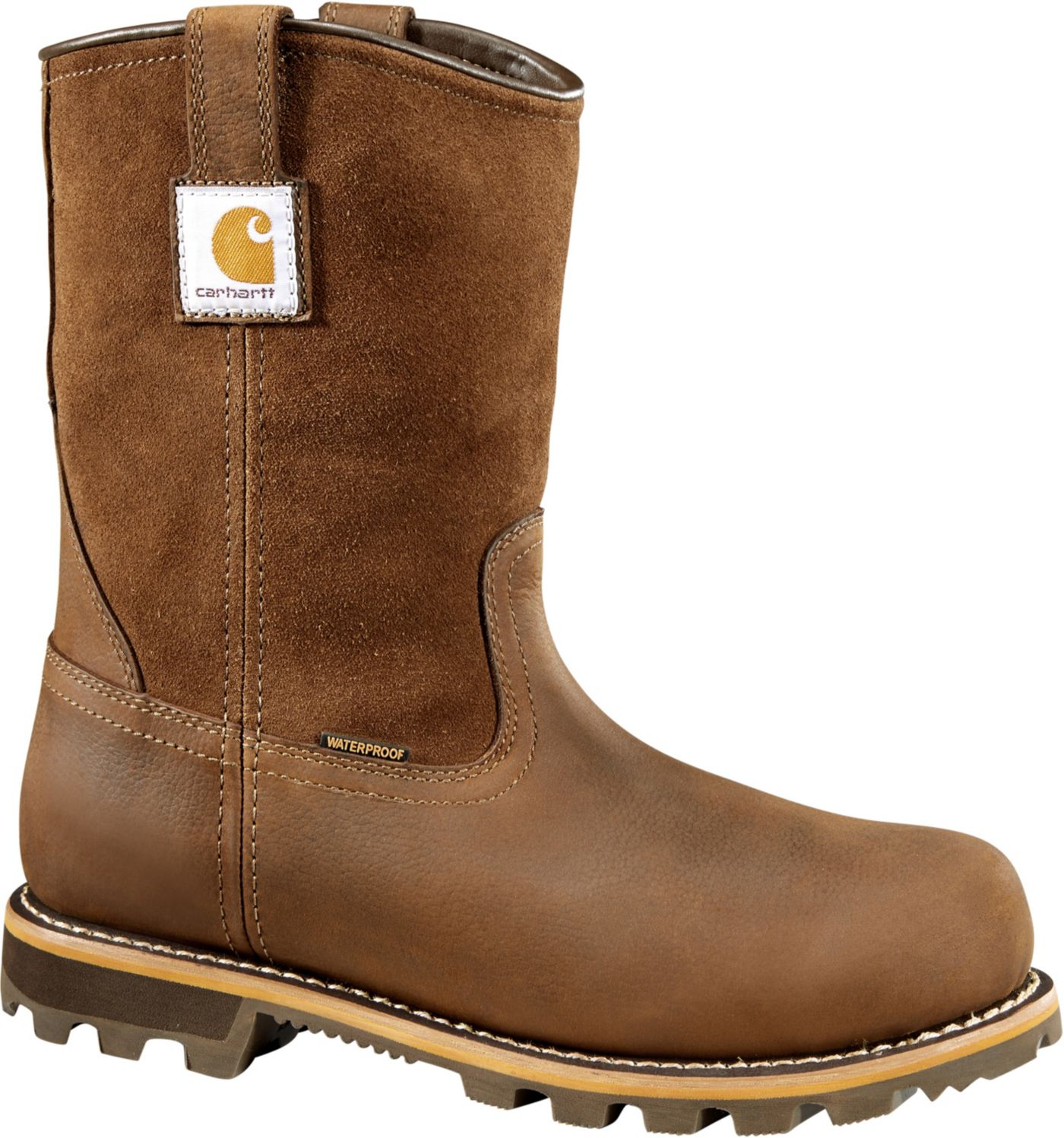 Carhartt Men's Traditional 10'' Pull On Waterproof Carbon Nano Toe Work Boots