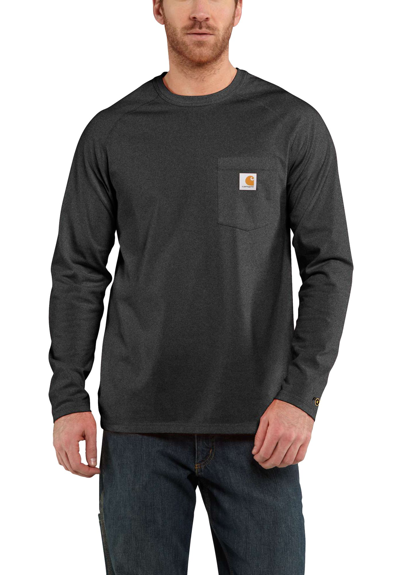 Carhartt Men's Force Cotton Delmont Long Sleeve T-Shirt
