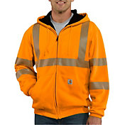 Carhartt Men's High Visibility Class 3 Thermal Zip Up Hoodie (Regular and Big & Tall)