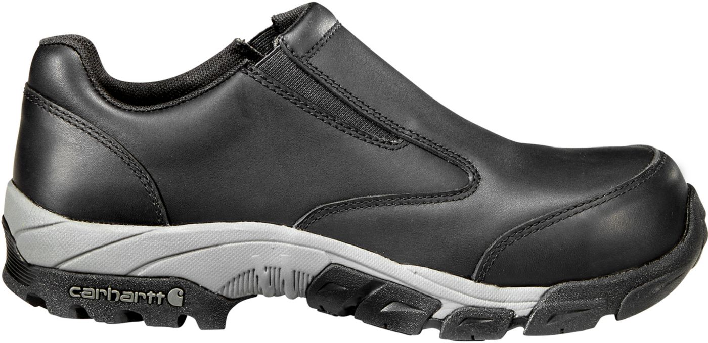 Carhartt Men's Lightweight Leather Slip-On Carbon Nano Toe Work Shoes