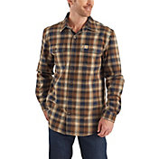 Carhartt Men's Hubbard Plaid Flannel Shirt (Regular and Big & Tall)