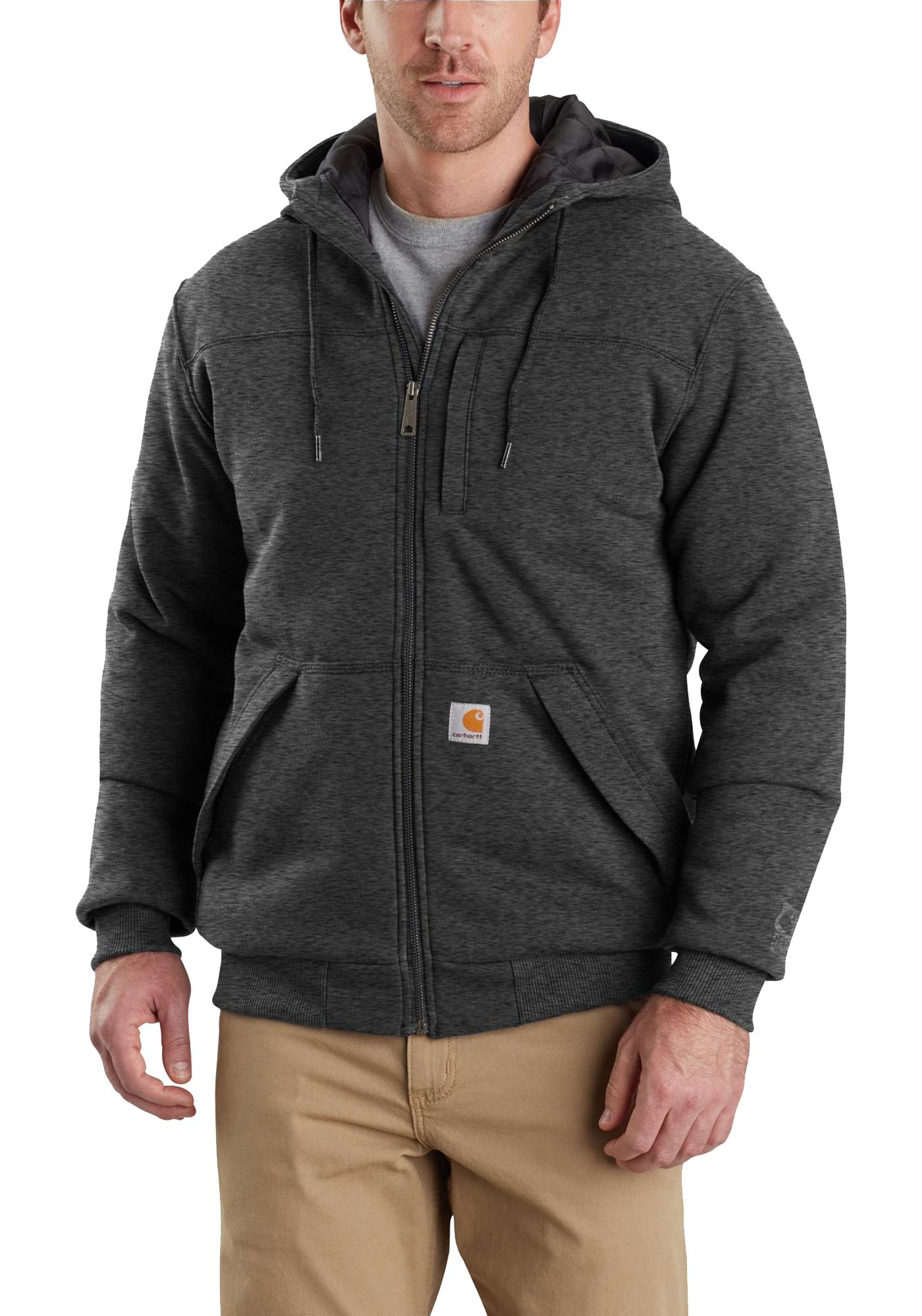 Carhartt Men's Rain Defender Rockland Quilt-Lined Full Zip Hooded Sweatshirt