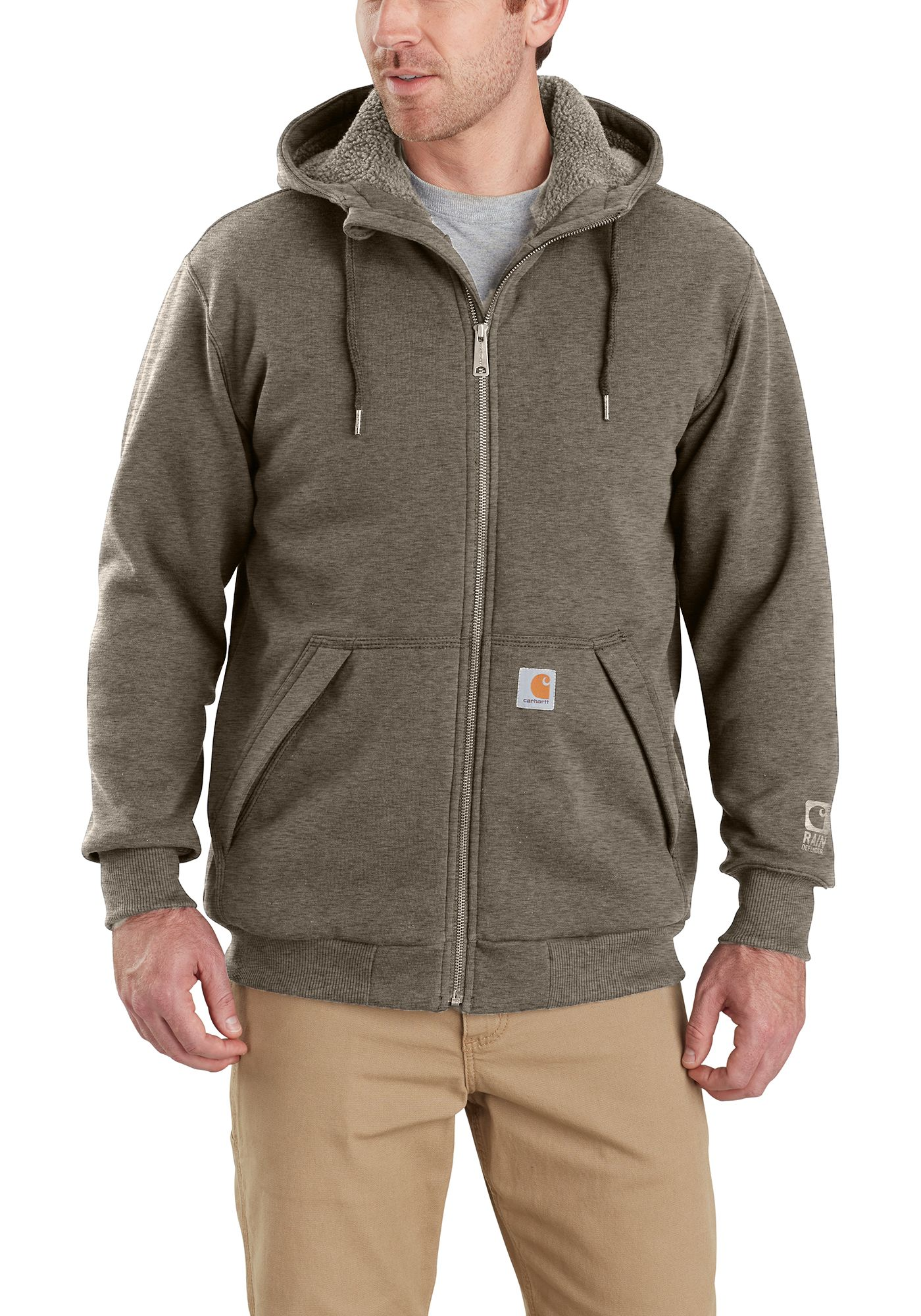 Carhartt Men's Rain Defender Rockland Sherpa-Lined Hooded Sweatshirt (Regular and Big & Tall)