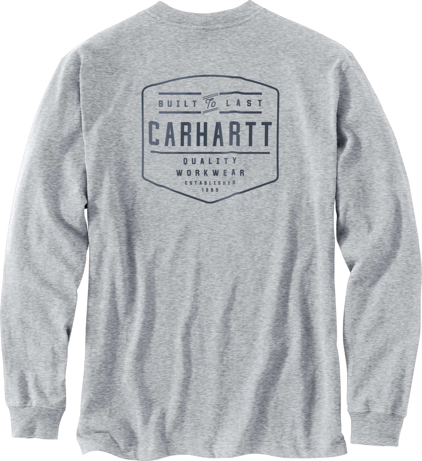 Carhartt Men's Workwear Built By Hand Graphic Long Sleeve Pocket T-Shirt