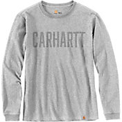 Carhartt Men's Workwear Block Logo Graphic Long Sleeve T-Shirt