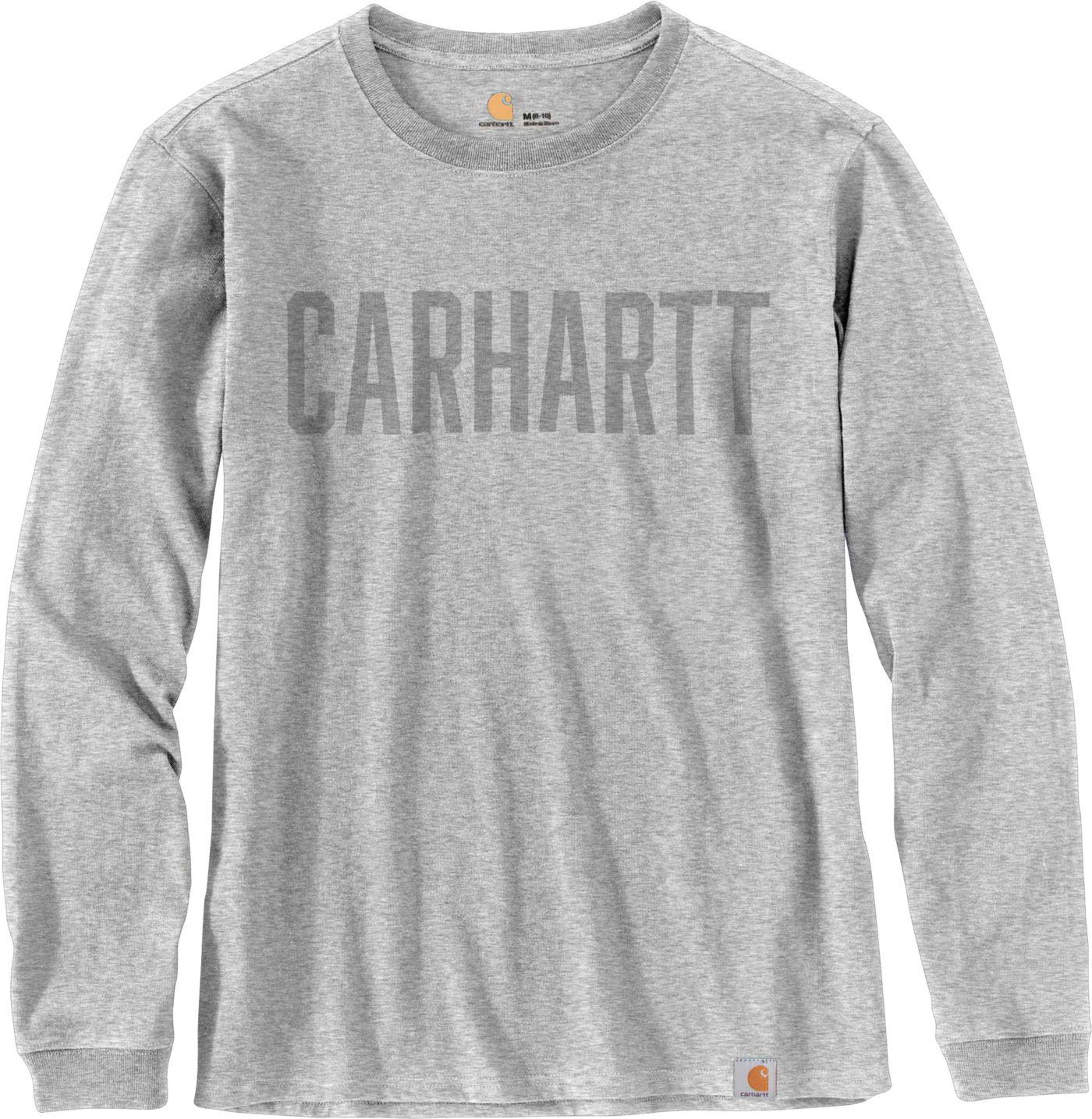 Carhartt Men's Workwear Block Logo Graphic Long Sleeve T-Shirt