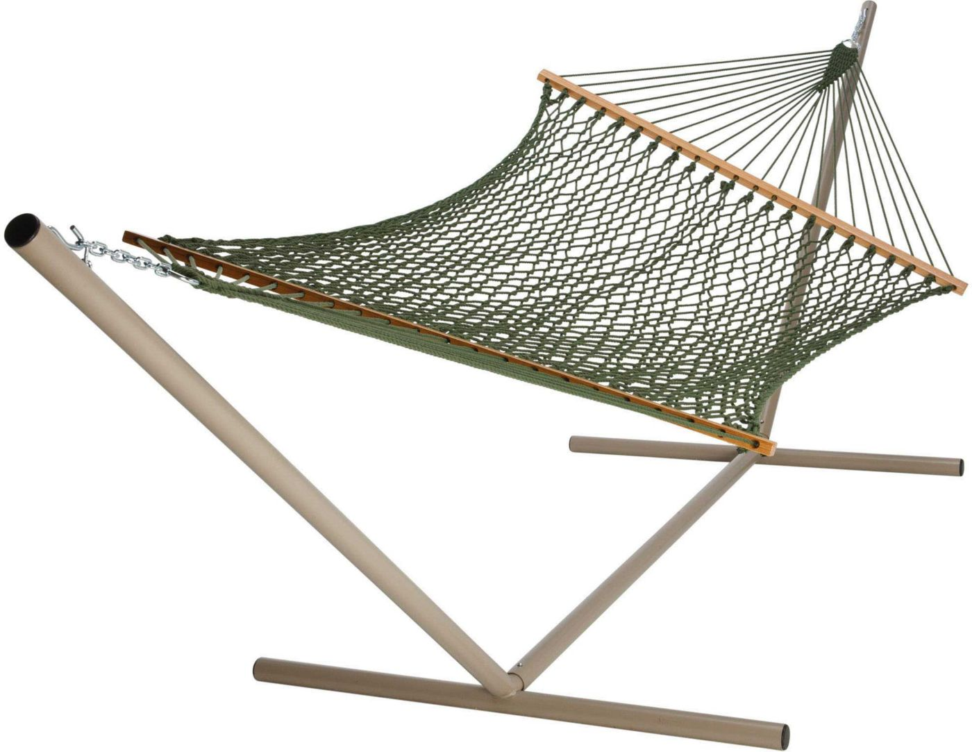 Castaway Large Green Polyester Rope Hammock